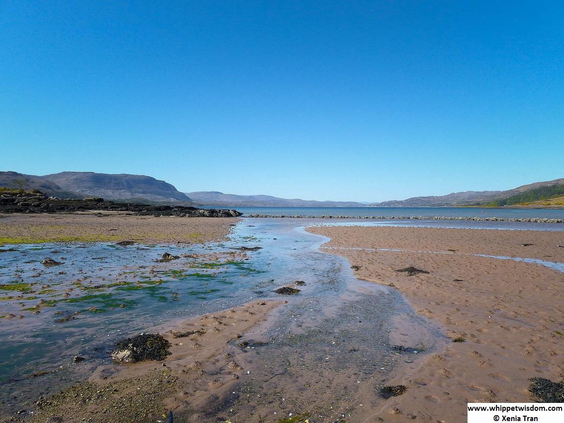 tide flowing in at Loch Torridon