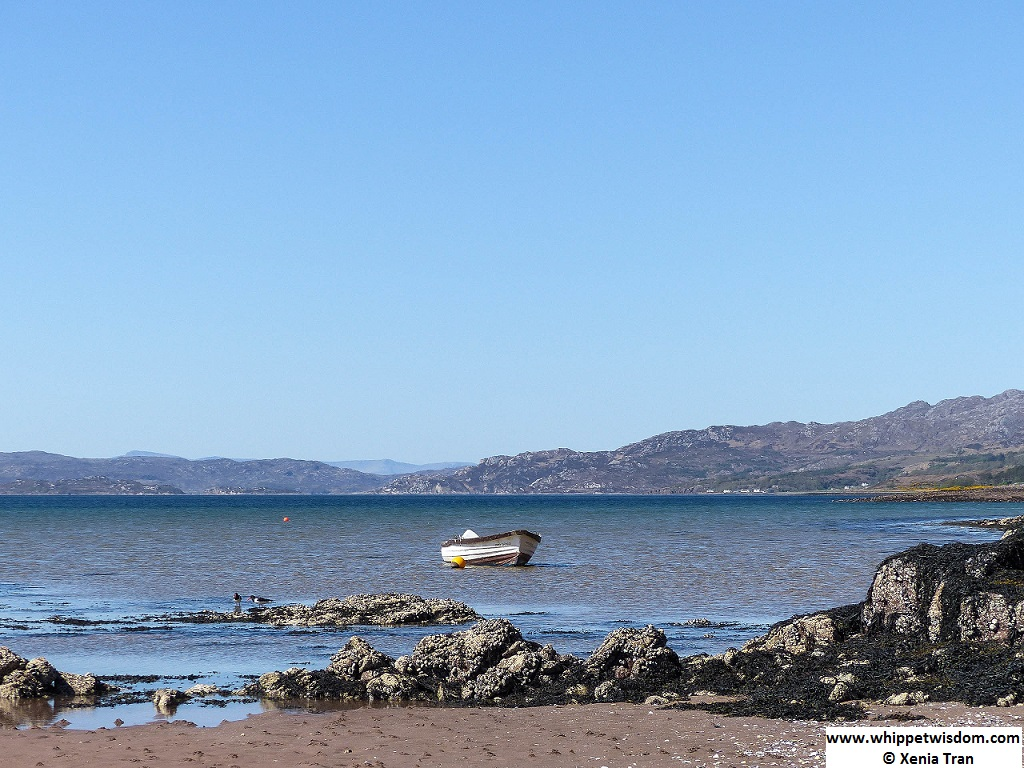 boat with anchor ball in Loch Torridon