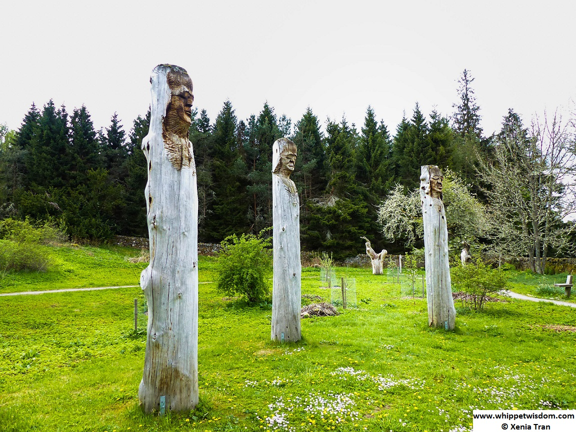 Part of the 'Third World' group of sculptures on Frank Bruce Sculpture Trail