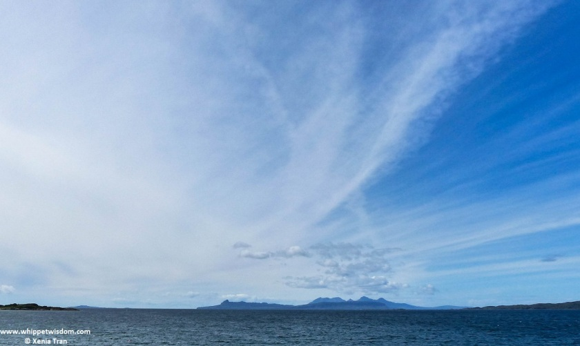 The islands of Eigg and Rum