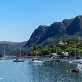 sailing boats anchored at Plockton