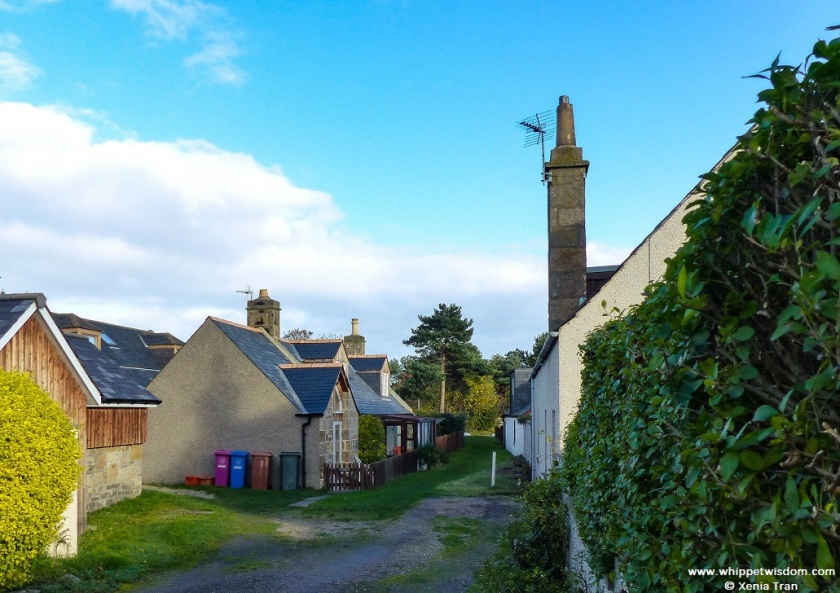 fishermen's cottages in Findhorn