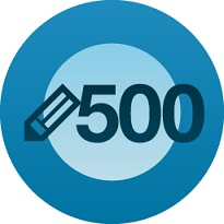 500th post logo