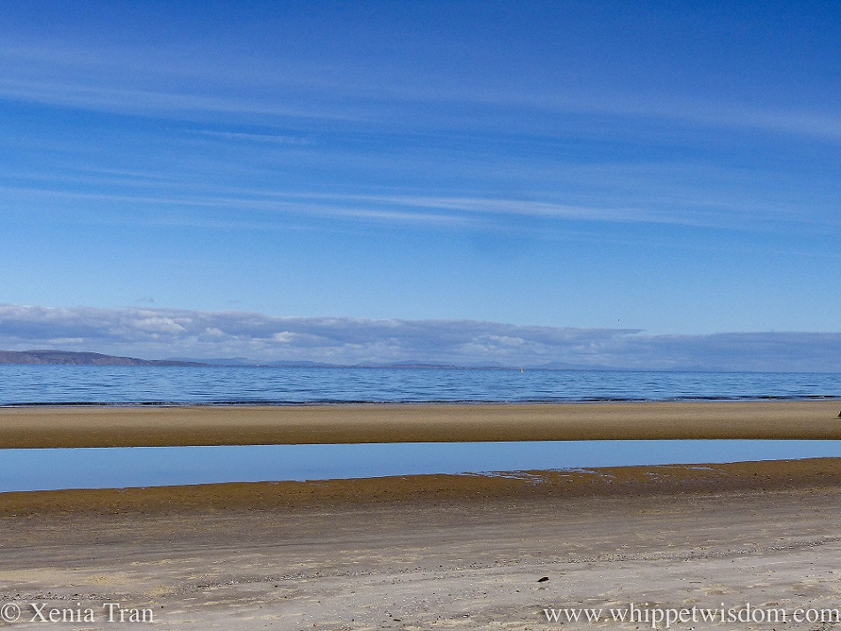a sandbar and lagoon on the shores of the Moray Firth