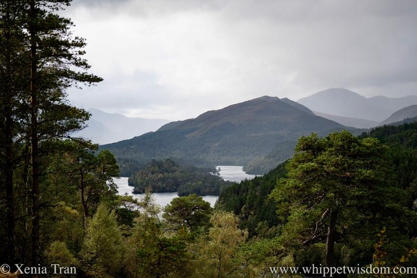 view over Loch Beinn a' Mheadhain in autumn